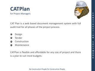 CATPlan for Project Managers