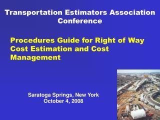 Transportation Estimators Association Conference