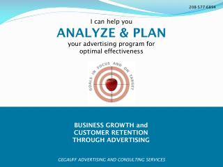 BUSINESS GROWTH and  CUSTOMER RETENTION THROUGH ADVERTISING