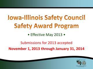 Iowa-Illinois Safety Council Safety Award Program