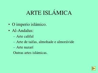 ARTE ISLÁMICA