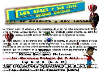 Autor  Nilxon Rodríguez Maturana  Lic. Química y Biología  (U. T. CH.) Esp. C. P. D.  (U. A. N.)