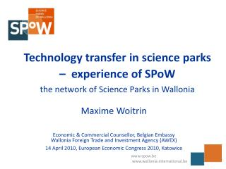 Technology transfer in science parks –  experience of SPoW