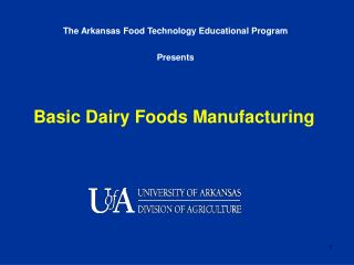 Basic Dairy Foods Manufacturing