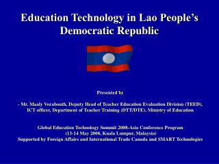 Education Technology in Lao People's Democratic Republic