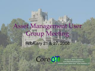 Asset Management User Group Meeting