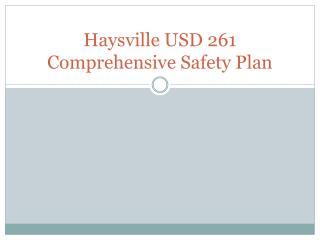 Haysville USD 261 Comprehensive Safety Plan