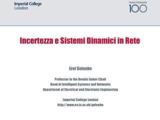 Incertezza e Sistemi Dinamici in Rete
