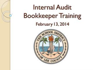 Internal Audit  Bookkeeper Training
