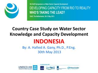 Title  of  session Country Case Study on Water Sector  Knowledge and Capacity Development