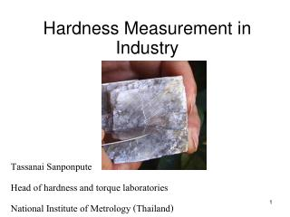 Hardness Measurement in  Industry