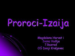 Proroci-Izaija