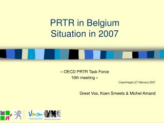 PRTR in Belgium Situation in 2007