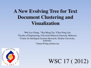A New Evolving Tree for Text Document Clustering and  Visualization