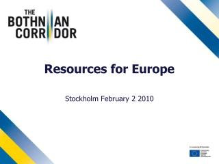 Resources for Europe