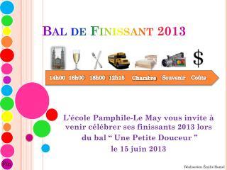 Bal de Finissant 2013