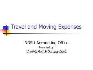 Travel  Moving Expenses - Powerpoint review