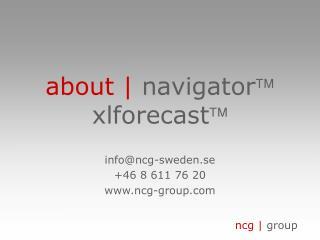 about |  navigator  xlforecast