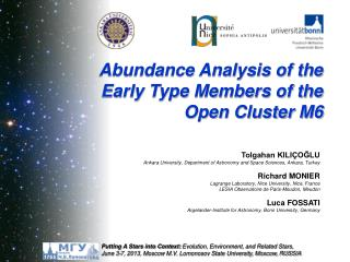 Abundance Analysis of the Early Type Members of the Open Cluster M6