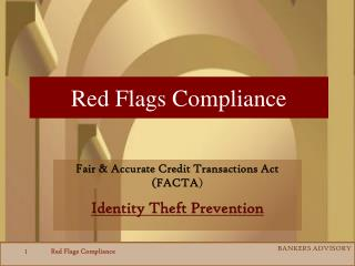 Red Flags Compliance