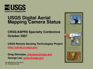 USGS Digital Aerial Mapping Camera Status