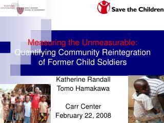 Measuring the Unmeasurable: Quantifying Community Reintegration of Former Child Soldiers