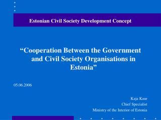 Estonian Civil Society Development Concept