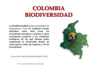 COLOMBIA BIODIVERSIDAD
