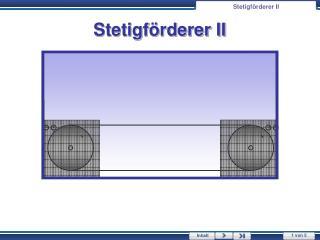 Stetigf�rderer  II