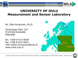 UNIVERSITY OF OULU Measurement and Sensor Laboratory