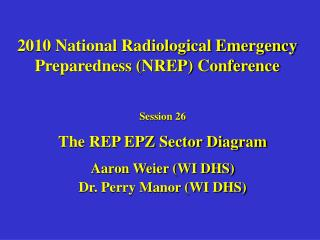 2010 National Radiological Emergency Preparedness (NREP) Conference