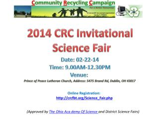 2014  CRC  Invitational  Science Fair