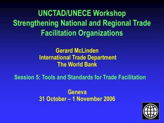 UNCTAD/UNECE Workshop Strengthening National and Regional Trade Facilitation Organizations
