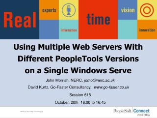Using Multiple Web Servers With Different PeopleTools Versions on a Single Windows Serve