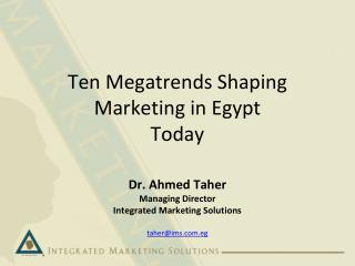 Ten Megatrends Shaping Marketing in Egypt Today