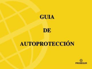 GUIA DE AUTOPROTECCIÓN