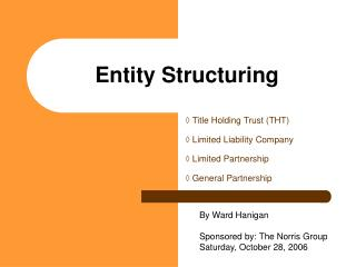 Entity Structuring