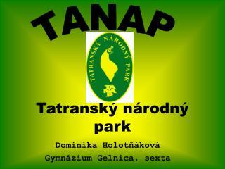 Tatransk� n�rodn� park