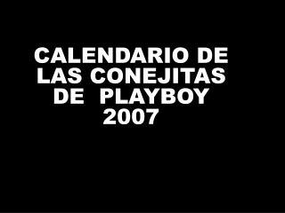 CALENDARIO DE LAS CONEJITAS DE  PLAYBOY 2007