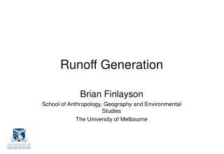 Runoff Generation