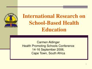 International Research on School-Based Health Education