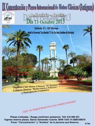 IX Concentración y Paseo Internacional  de Motos Clásicas ( Antiguas)