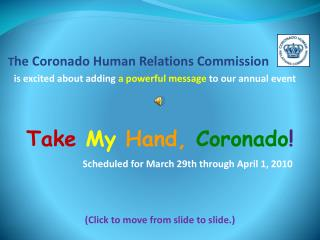 T he Coronado Human Relations Commission