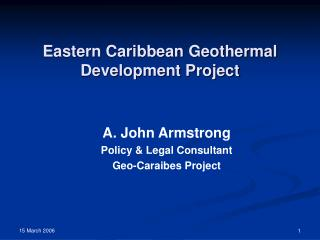 Eastern Caribbean Geothermal Development Project