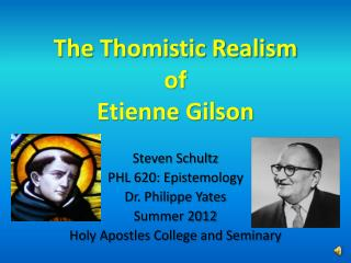 The Thomistic Realism of Etienne Gilson