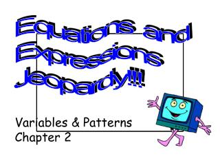 Variables &  Patterns Chapter 2