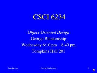 CSCI 6234