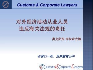 Customs & Corporate Lawyers