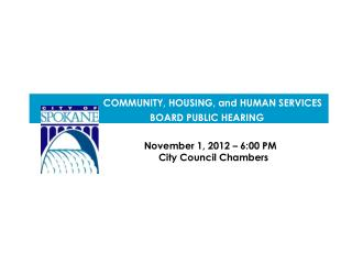 November 1, 2012 – 6:00 PM                   City Council Chambers