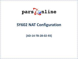 SY602 NAT Configuration